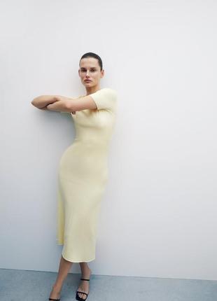 Трикотажное платье от zara