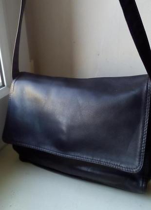 Кожаная сумка с длинным ремнем tula