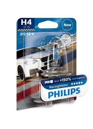 Авто лампа H4 60/55W 12V +150% PHILIPS оригинал с гарантией! P...