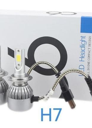 Лампа цоколь H7 LED ламп ближний и дальний свет C6 HeadLight H...