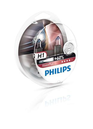Авто лампа H1 PHILIPS 55W 12V (P14,5s) Vision Plus