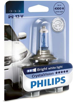 Авто лампа HB3 PHILIPS 65W 12V P20d Crystal Vision. Эффект ксе...