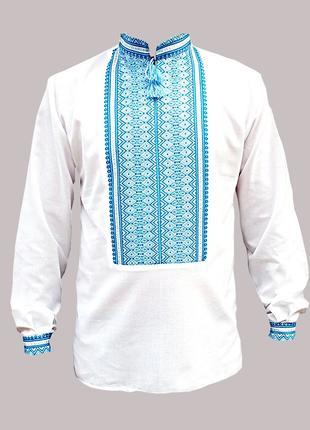 Вышиванка мужская машинная тканая вышивка