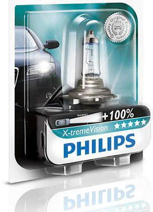 Авто лампа H7 PHILIPS 55W 12V PX26d X-treme Vision+130%