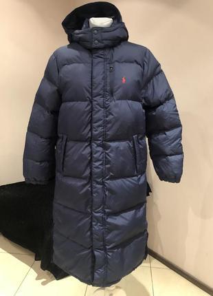Пуховое пальто, пуховик ralph lauren. размер с-м
