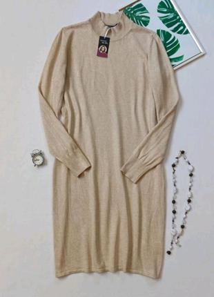 Платье свитер, базовое трикотажное платье водолазка