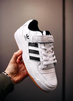 Adidas forum white/black, мужские кроссовки адидас форум белые...