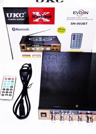 Усилитель UKC SN-003BT - Bluetooth, USB,SD,FM,MP3! 300W+300W К...
