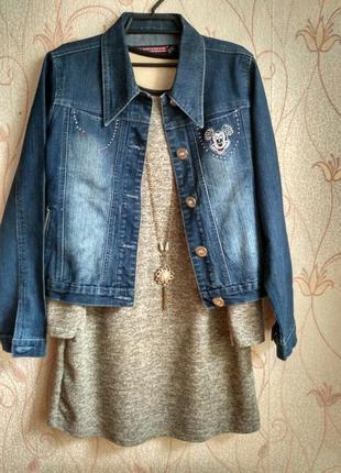 Джинсовая куртка с микки-маусом :)