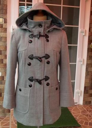 (48/50 р) пальто куртка с капюшоном