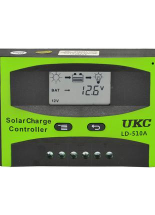 Контроллер заряда для солнечной батареи UKC LD-510A 10A