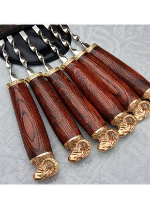 """Набор шампуров """"Золотое руно"""" в чехле из плотной ткани 6 шт"""