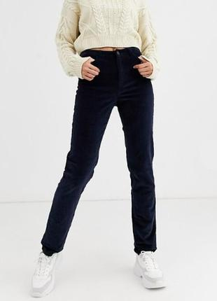 Темно-синие вельветовые брюки marks & spenсer