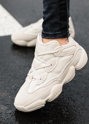 Шикарные кроссовки adidas yeezy boost 500 с мехом
