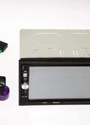 2din автомагнитола Pioneer 7022 USB+BT+SD пульт на руль