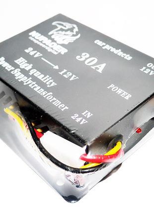 Преобразователь (инвертор) 24V-12V 30A