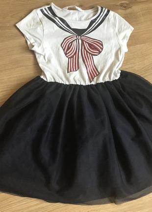 Красивое платье в морском стиле