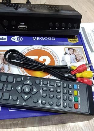Ресивер цифрового телевидения MEGOGO 168 Т2 приемник тюнер при...