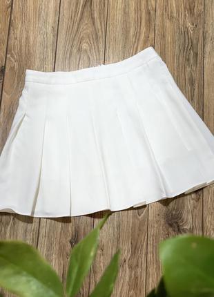 Юбка теннисная, плиссе , белая