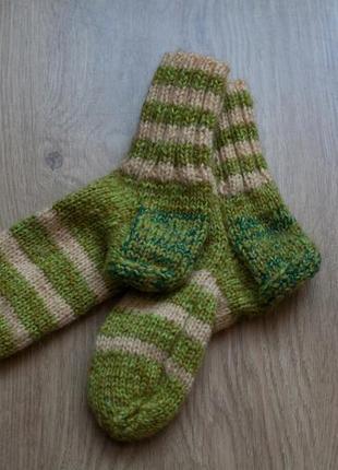 Носки из шерсти/полушерсти, вязаные.