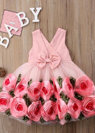 Очень красивое платье  для девочки 6-8 лет