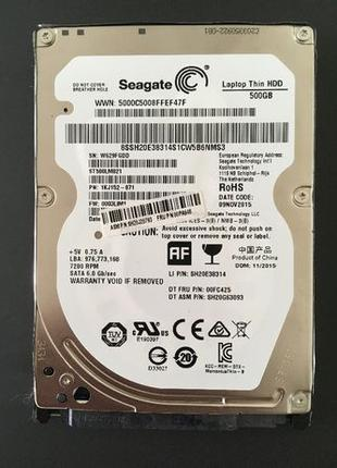 Жорсткий диск Seagate HDD 500GB 7200rpm 2.5 SATA 6Gb/sec