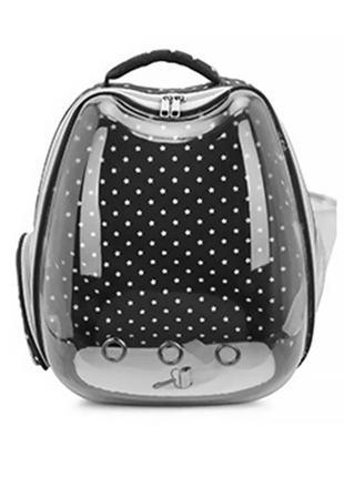 Рюкзак-переноска для кошек Taotaopets 257707 Black Panoramic S...
