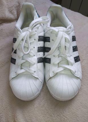 Кросовки -Adidas Superstar Cloud White Black Shoes S76924