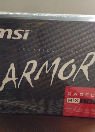 Відеокарта MSI RX 580 ARMOR 4G. Нова, запечатана.