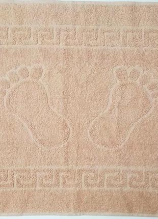 Полотенце махровое для ног, коврик. Турция. 100% хлопок. Разные