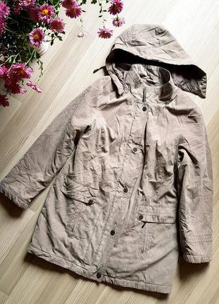 Куртка тренч женская пальто теплая модная бежевая мокко