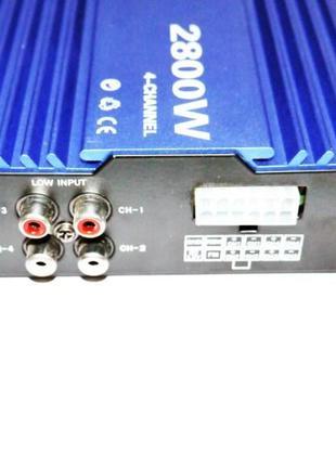 Усилитель X-8000USB блютуз, USB,SD,FM,MP3! 2800W 4х канальный
