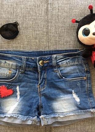 Джинсовые шорты на девочку 7-8 лет