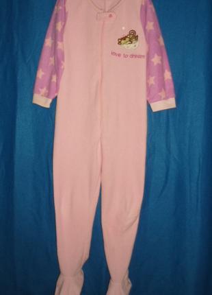 Пижама кигуруми слип флисовый 7-8 лет рост 122-128cм