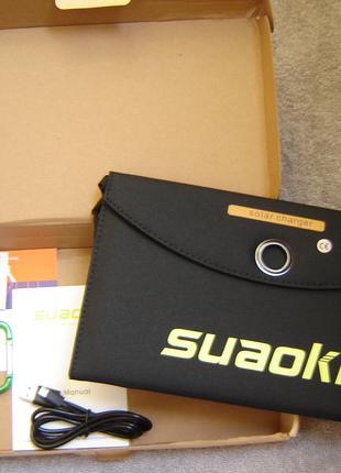 Солнечная панель, батарея ,туристическая зарядка SUAOKI 25В