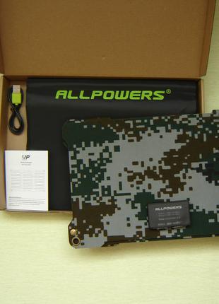 Солнечная батарея, зарядка,панель ALLPOWERS( EFTFE ) 21вт новая