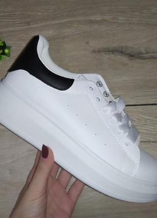Кеды кроссовки белый женские деми сезон весна кросівки толстая...
