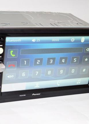 Автомагнитола 2din  Pioneer 7023 USB, BT, SD пульт на руль
