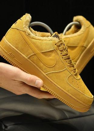 ❄️nike air force low light brown winter❄️зимние мужские кроссо...