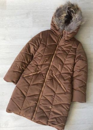 Распродажа, последние два размера , зимняя тёплая куртка, пальто