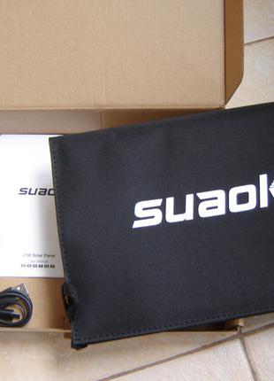 Солнечная зарядка, батарея Suaoki 21 Вт