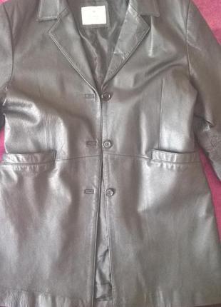 Куртка,плащ кожаный женский 50р