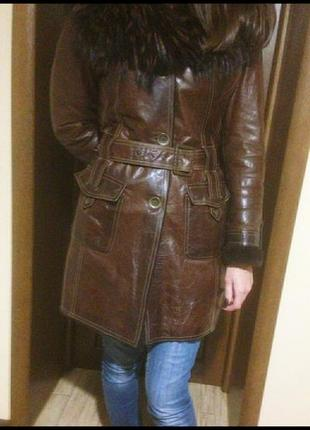 Зимняя куртка,натуральная кожа+цигейка,46/м