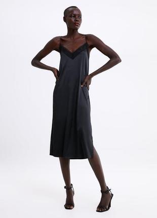 Платье в бельевом стиле от zara