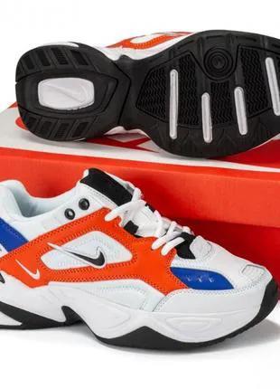 Кроссовки Nike M2K Tekno білі/орандж
