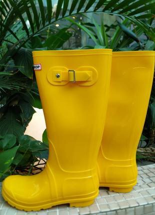 Сапоги резиновые женские yellow