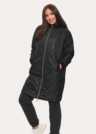 Куртка oversize черная больших размеров