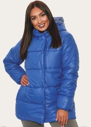Куртка синяя плащевка