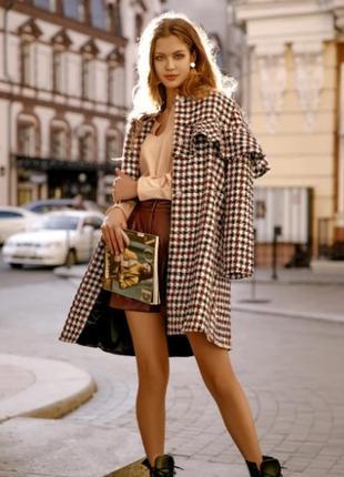 Пальто классическое гусиная лапка