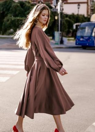Трендовый костюм юбка-миди клеш+джемпер короткий